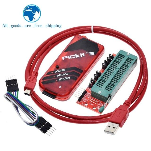 Tzt PICKIT3 pic KIT3 pickit 3 プログラマオフラインプログラミングpicマイクロコントローラ · チップモノポリー + picプログラマーアダプタシート