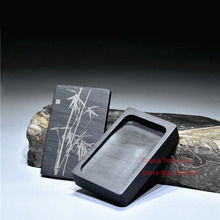 Ink-Stone Rectangle Calligraphy Inkwell Chinese with Cover Inkwell/Grinding-made/Of/..