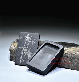 Китайский чернильный камень прямоугольная каллиграфическая чернильная каменная Студенческая чернильная скважина с крышкой чернильница ш...