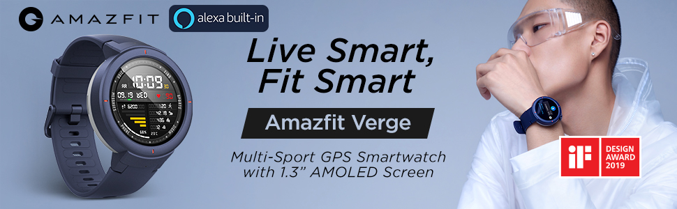 Photo global version Huami Amazfit verge sport's smartwatch. Gym HUAMI watch heart rate monitoring