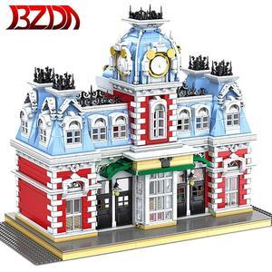 BZDA мечта Королевство станция строительный блок модель DIY Мини создатель город улица вид серии креативные строительные блоки игрушки для де...