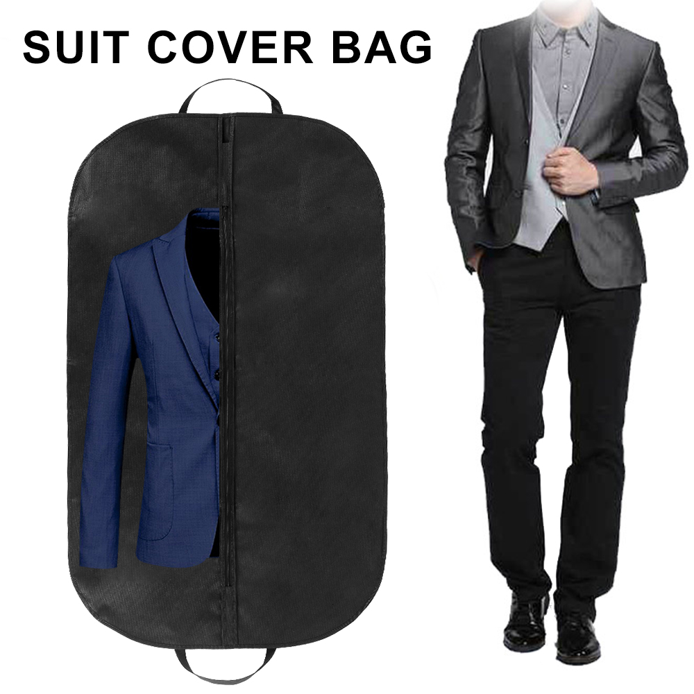 Professional Garment Bag Cover Suit Dress Storage Non-woven Breathable Dust Cover Protector Travel Carrier Cloth Dust Cover