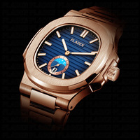 PLADEN Unique Watch Men Luxury Gold Mens Watches Top Brand Luxury Stainless Steel Mens Fashion Black Quartz Watch Gifts For Men