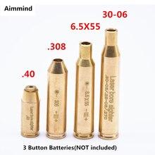 (Sem baterias) caça laser vermelho boresighter cal.308. 40.6.5 x55, cal.30-06 cartucho tático bore sighter