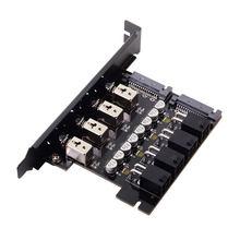 Xiwai 4 Porte del Disco Rigido Sistema di Controllo Intelligente di Controllo del Sistema di Gestione della HDD SSD Interruttore di Alimentazione con Staffa PCI