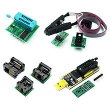 CH341A 24 25 serisi EEPROM flaş BIOS USB programcı modülü + SOIC8 SOP8 Test klipsi EEPROM 93CXX / 25CXX / 24CXX