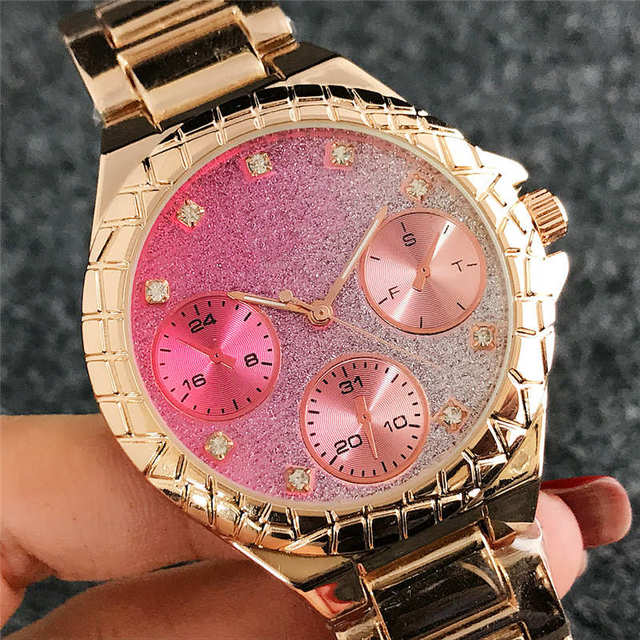 reloj mujer luxury Diamond Watch Women fashion brand Ladies Dress Pink Wrist Watch Crystal dial rose gold Watches Bracelet Clock