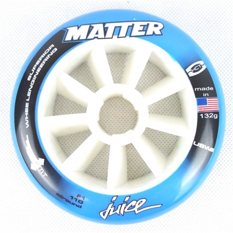 MATTER JUICE inline speed skating wheel with F1 SUPERIOR emt competition level speed ruedas 100mm 110mm track road skating tyres