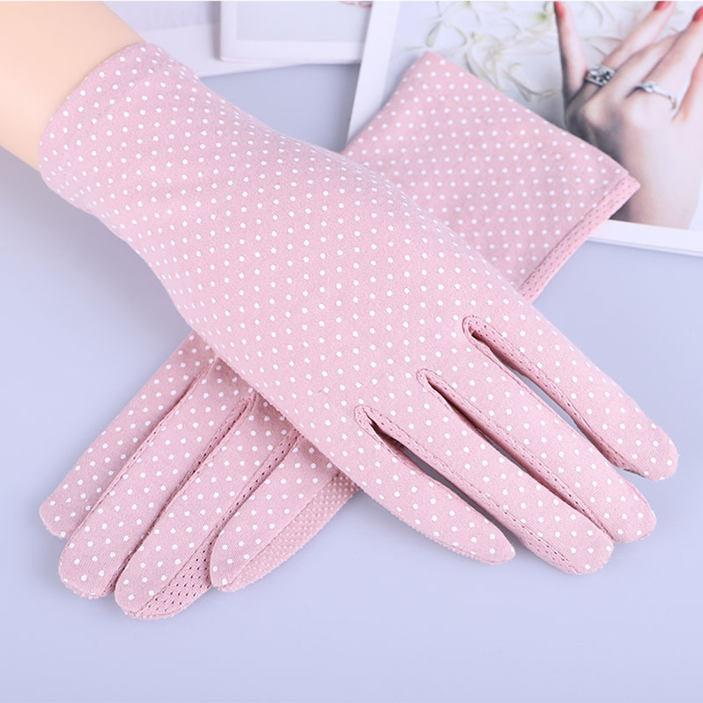 Anti-slip Sunscreen Gloves Women Touch Screen Mittens Glove Lady Breathable Thin Riding Non Slip Lace UV Sun Protection Glove
