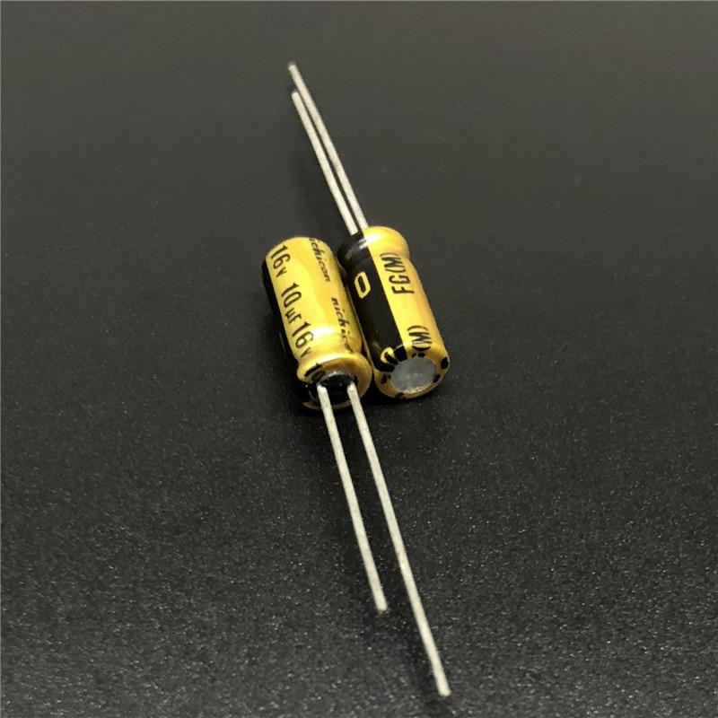 10Pcs/100Pcs 10uF 16V NICHICON FG (Fine Gold) 5x11mm 16V10uF High Grade Audio Capacitor