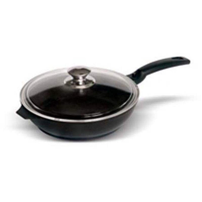 Frying Pan Kukmara, Tradition, 24 Cm, With Non-stick Coating, With Removable Handle, With Glass Cover