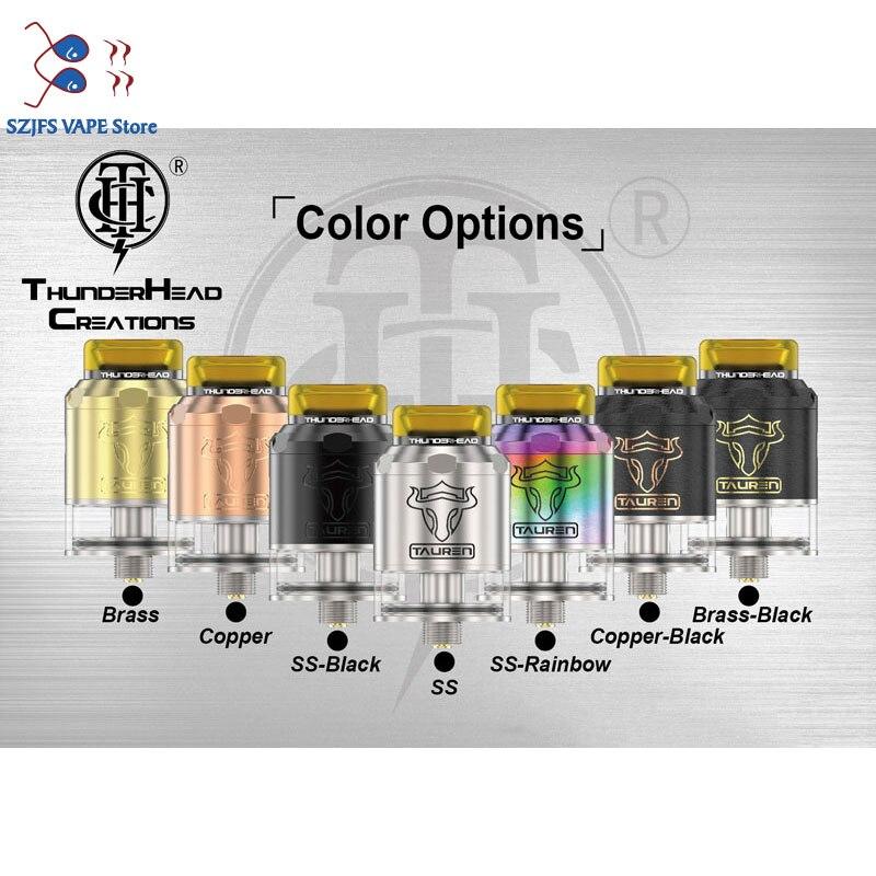 THC Tauren RDTA Tank Double 28 Micro Air Holes Leak Proof Rebuildable THC Atomizer Fit For E Cigarette Box Mod  Vape Vs Sxk Rdta