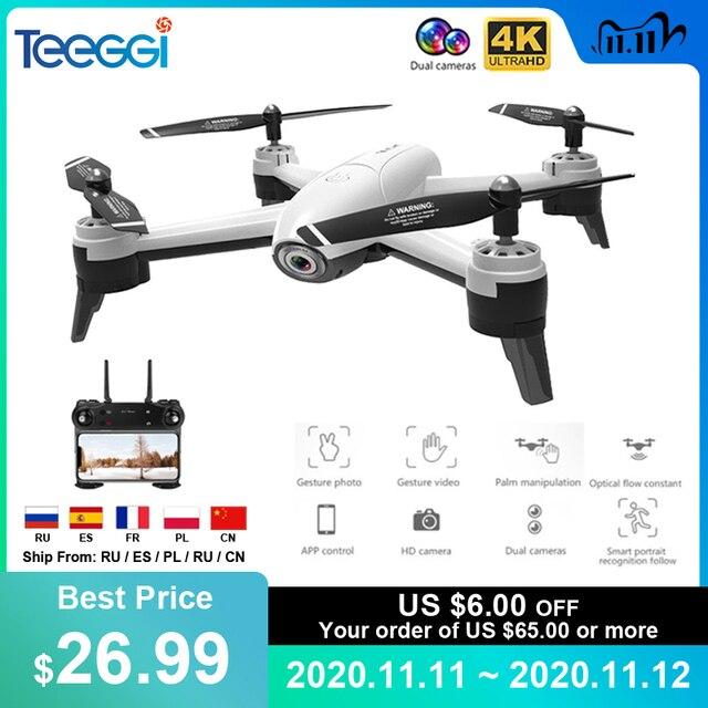 Drone SG106 FPV RC com câmera dupla 4k e fluxo óptico, aeronave quadcopter com vídeo aéreo, 1080P HD, brinquedos para crianças