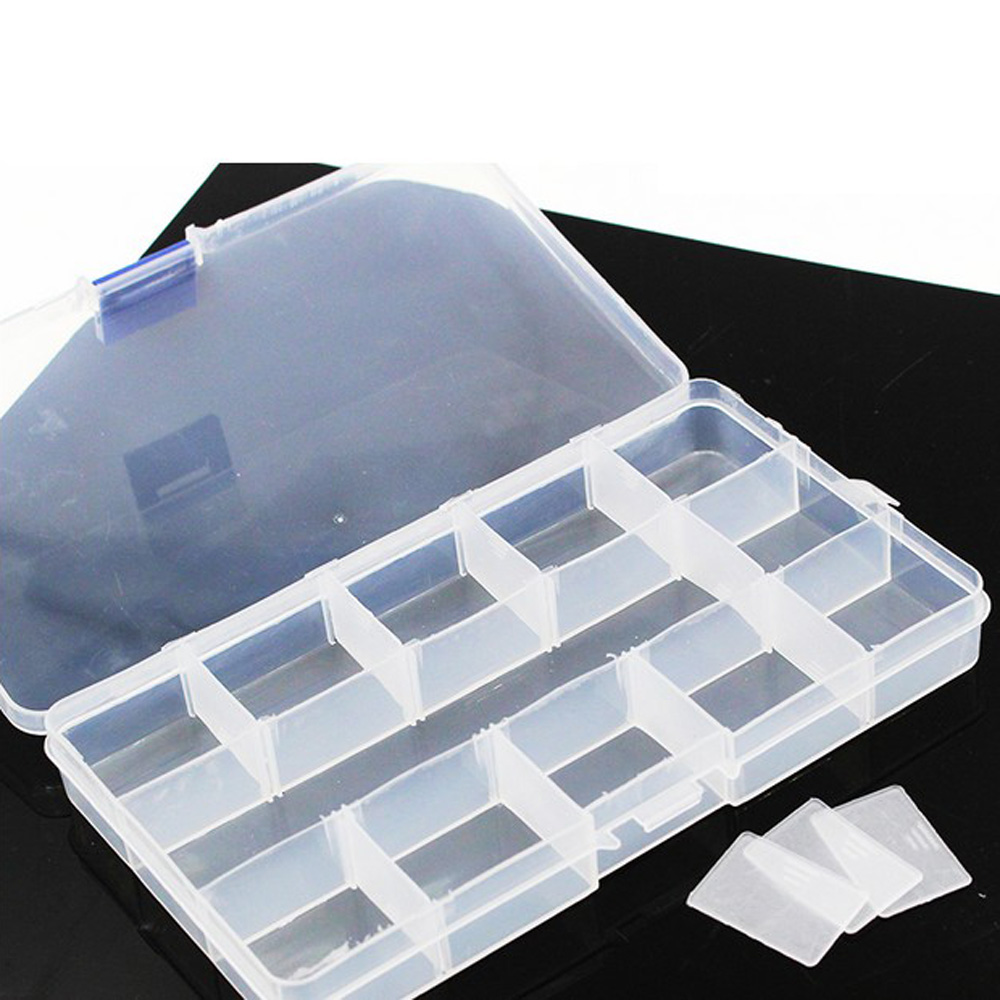 Transparent Plastic Parts Box Electronic Components Box Storage Box Of Small Metal Parts Screw Tool Box Sub-grid Patch