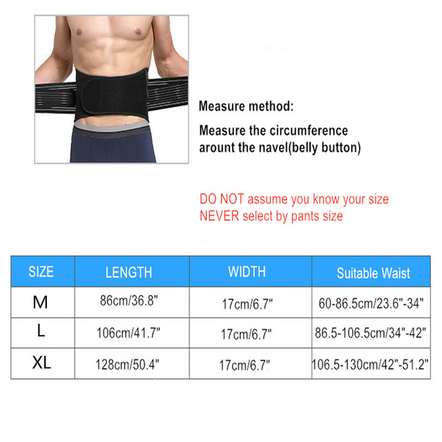 Unisex Waist Trimmer Gym Sports Fitness Lumbar Belt Brace 8 Stable Splints Support with 4 Adjustable Straps Weight Loss Shaper 5