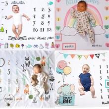 2020 Baby Milestone Blanket Newborn Phot