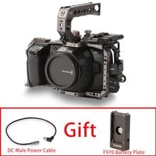 Tilta BMPCC 6K 4K Cage TA T01 B G Cage de caméra complète support de lecteur SSD poignée supérieure pour Kit de base de caméra BMPCC 4K (couleur gris Tilta)