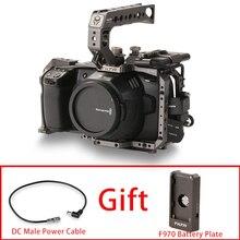 Tilta BMPCC 6K 4K Käfig TA T01 B G Volle Kamera Käfig SSD Stick Halter Top Griff für BMPCC 4K kamera Grundlegende Kit (Farbe Tilta Grau)
