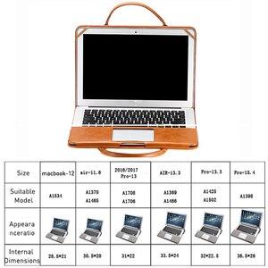 Image 5 - רב להשתמש 13 אינץ תיק מחשב נייד עבור ה macbook Air 13 עור מפוצל 12, 13.3, 15.4 אינץ מחשב נייד מקרה עבור MacBook Pro 13 PU נייד תיק