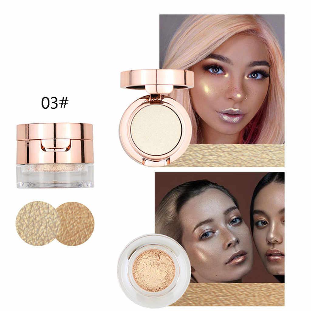 5 couleurs Kit lueur surligneur maquillage miroitant poudre surligneur Palette Base illuminateur surbrillance visage Contour doré bronzant h
