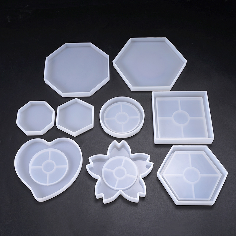 SNASAN Cup Mat Silicone Mold For Jewelry Making Resin Diy Jewelry Accessories Tool UV Epoxy Resin Molds Decorative Craft