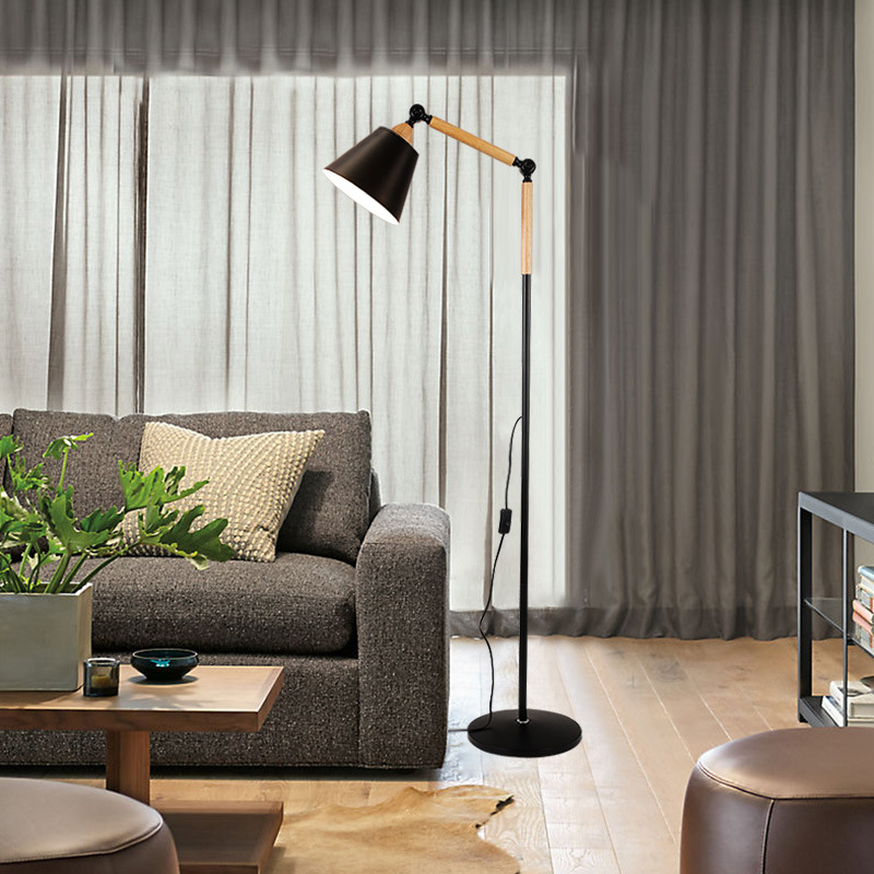 Metal Floor Light Nordic Style Floor Lamp Simple E27 Black Or White Reading Light Hotel Room Lighting Mj1113 Special Promo 75d01 Cicig