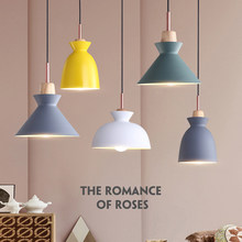 Modern Color Macaron Restaurant Chandelier Nordic Creative Bar Table Lamp Three Round Aluminum Alloy Chandelier Lighting