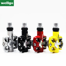 Wellgo WM001 Bicycle Pedals Ultralight Bike Bicycle Pedals Mountain Road Bike Folding Cycling Bicycle Foot Pegs Pedals mtb