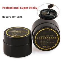 8ML Manicure No-wipe Top Coat Glitter Gloss No Wipe Matte Soak Off Topcoat UV Gel Nail Varnish Sealer Matt Base Coat Gel