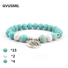GVUSMIL New Design Blue Natural Stone Women`s Bracelet Bracelet Trendy Vintage Women`s Jewelry trendy women s satchel with magnetic closure and black color design