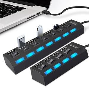 Micro USB Hub 2.0 Multi USB Po