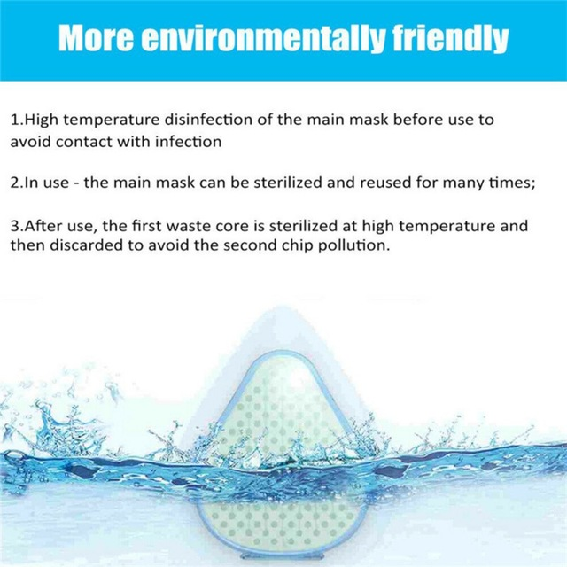S8 Dust Mask Anti Virus Flu Fumes Filter Safety Face Protection Self Higher Anti-fog Mask Isposable Dust Mask  Face Protection 5