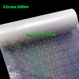 """Transparent Little Star star Laser Laminating Bopp Pre-coated Film 12.5""""X656' 0.32x200M Glass Keychain ABS Acrylic Las(China)"""