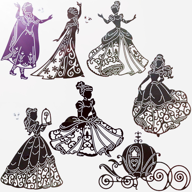 Beauty Rose Girl Metal Cutting Dies Princess Girl Stencil For Scrapbooking Paper Cards Crafts New 2019 Dies Cutter Decorative