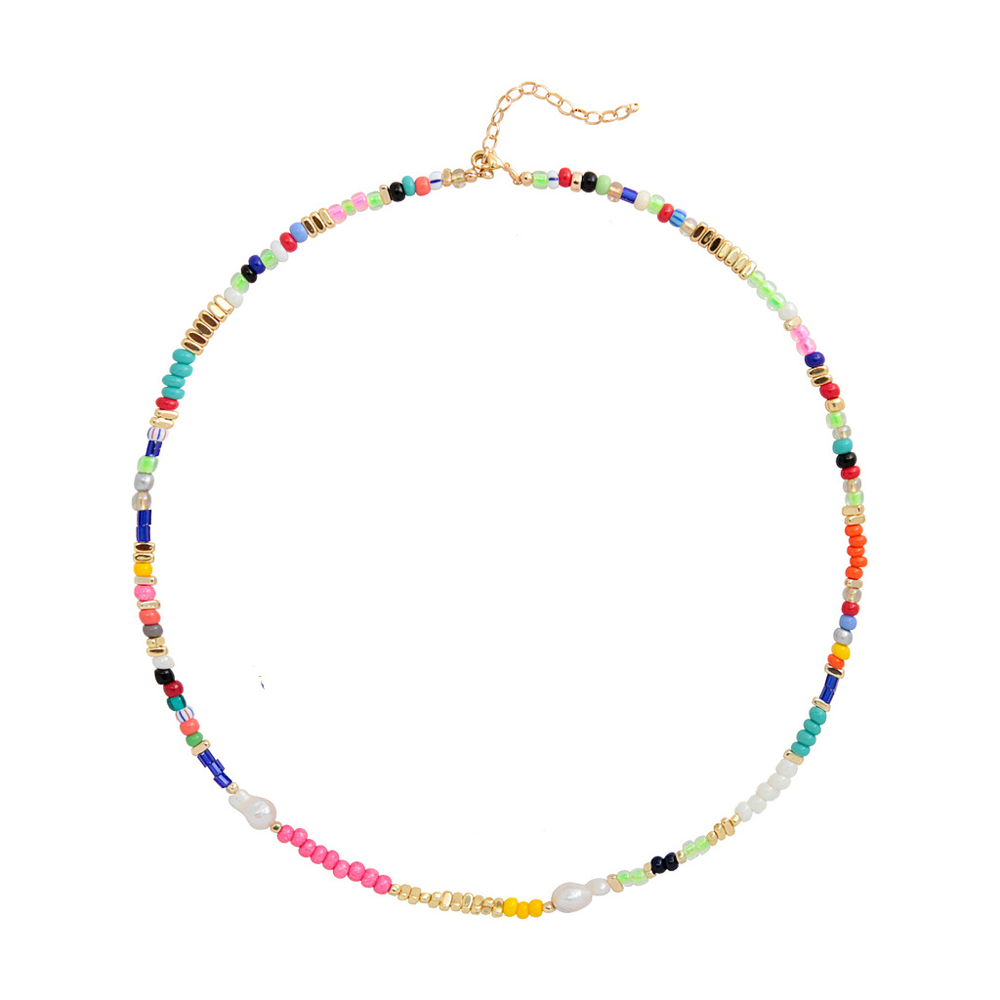 Bohemia jewelry necklace with name real pearl glass beads chokers set customized 2020 new design necklaces for women