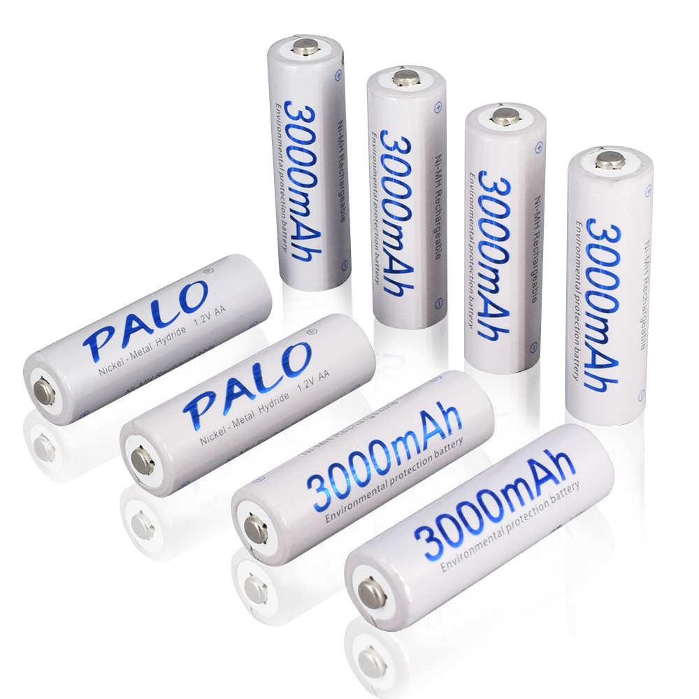 2-16 قطعة AA 3000mAh ni-mh بطارية قابلة للشحن 1.2 فولت AA 2A nimh بطارية نيكل ميتال هيبريد ni-mh 100% الأصلي بطاريات عالية السعة الحالية