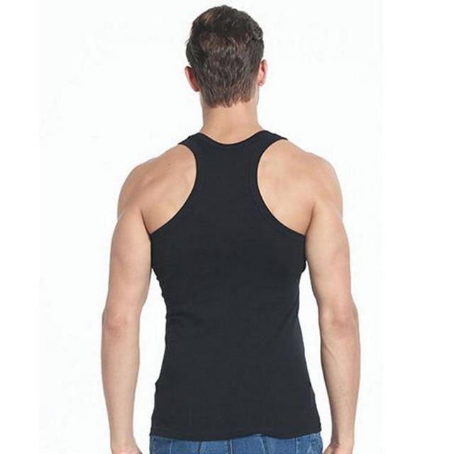 DIHOPE Men Slim Solid Sleeveless Undershirt Boy Summer Cotton Fitness Mulitcolor Vest Thermal Tights High Flexibility Tank Tops 4