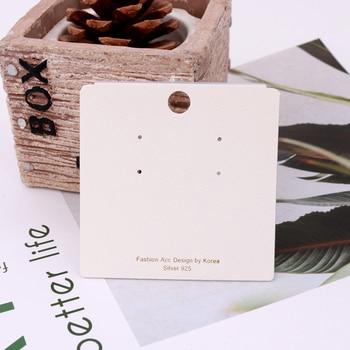 100Pcs Jewelry Display Card Earring 7x7cm earring card Hang Tag card DIY jewelry stud earring package cards фото