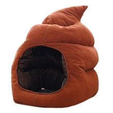 Creative Cute Shit Shape Plush Hat Stuffed Toy Funny Fake Poop Full Headgear Cap Gag Gift Cosplay Costume Party Photo Props Acce