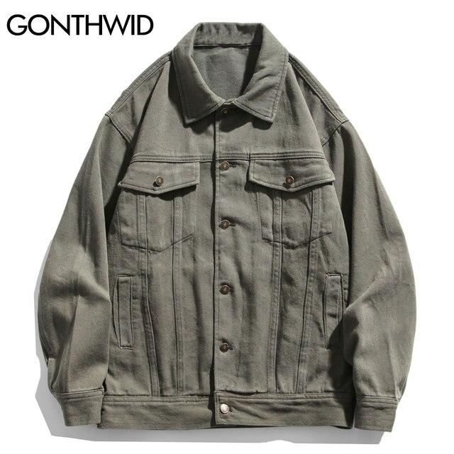 GONTHWID House Print Patchwork Denim Jackets Streetwear Mens Hip Hop Harajuku Casual Jeans Jacket Coats Harajuku Fashion Tops 2