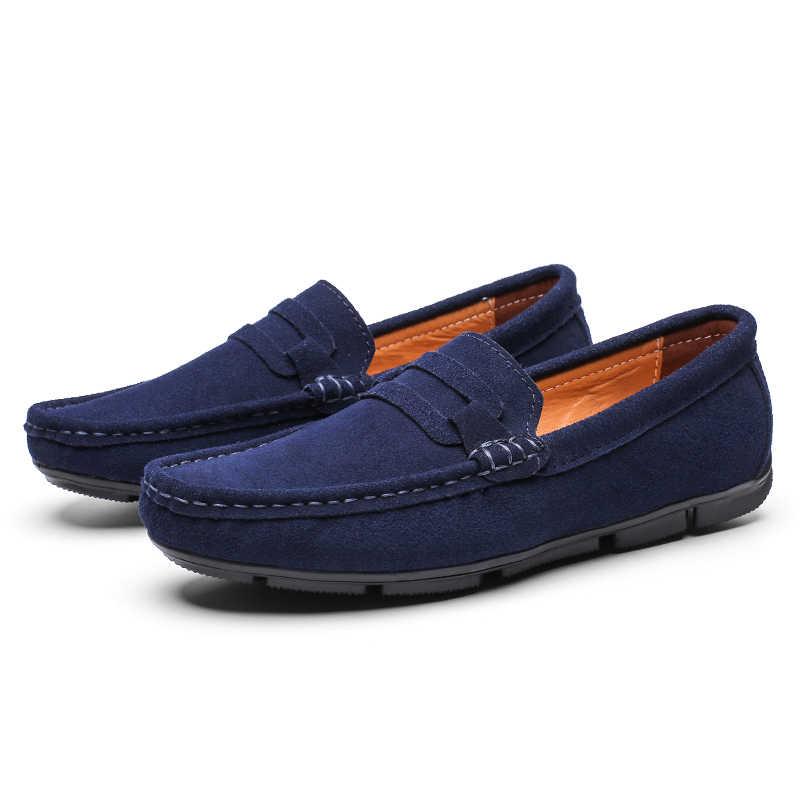 Rahat ayakkabılar Için erkek mokasen ayakkabıları Süet Deri Erkek Bot Ayakkabı Lüks Marka El Yapımı Erkekler Üzerinde Kayma Elbise Ayakkabı Erkek Ayakkabı Skor KOZLOV