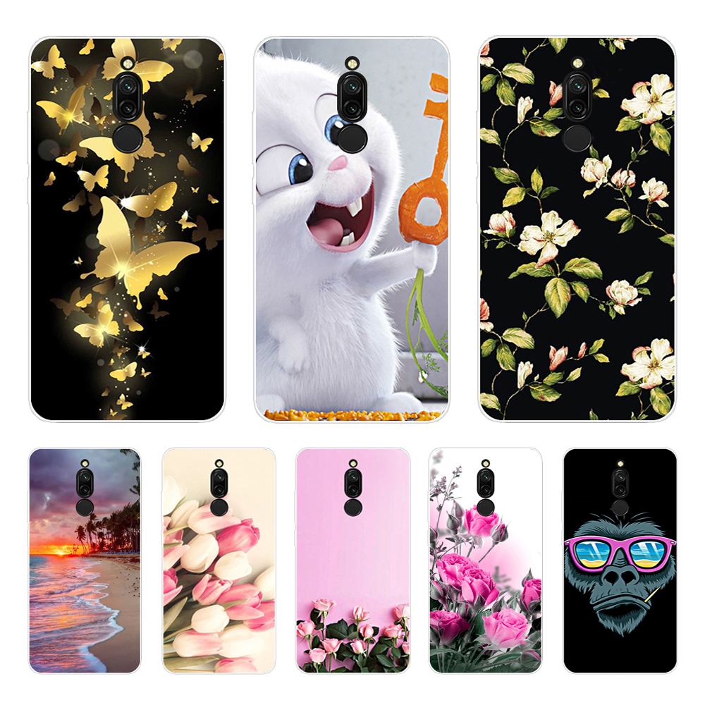Phone Case For Xiaomi Redmi <font><b>8</b></font> Cover <font><b>6.22</b></font> Silicone Soft Flower Coque For Xiaomi Redmi <font><b>8</b></font> Case Redmi8 TPU Capa for Xiaomi Mi 10 Pro image