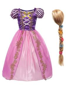 MUABABY Costume Kids Outfit Dress-Up-Clothes Tangled Rapunzel Birthday-Party Little-Girls