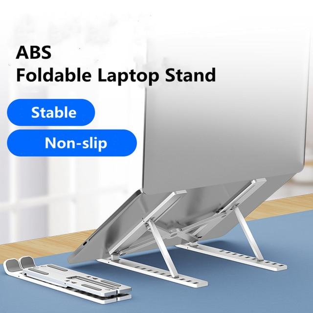 Laptop Stand Adjustable Portable ABS Non Slip Ergonomic Computer Stand Foldable Laptop Holder Computer Riser Bracket for MacBook