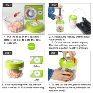Image 2 - LAIMENG High Quality Plastic Vacuum Sealer Canister Large Capacity 2200ml Vacuum Container For Marinating S170