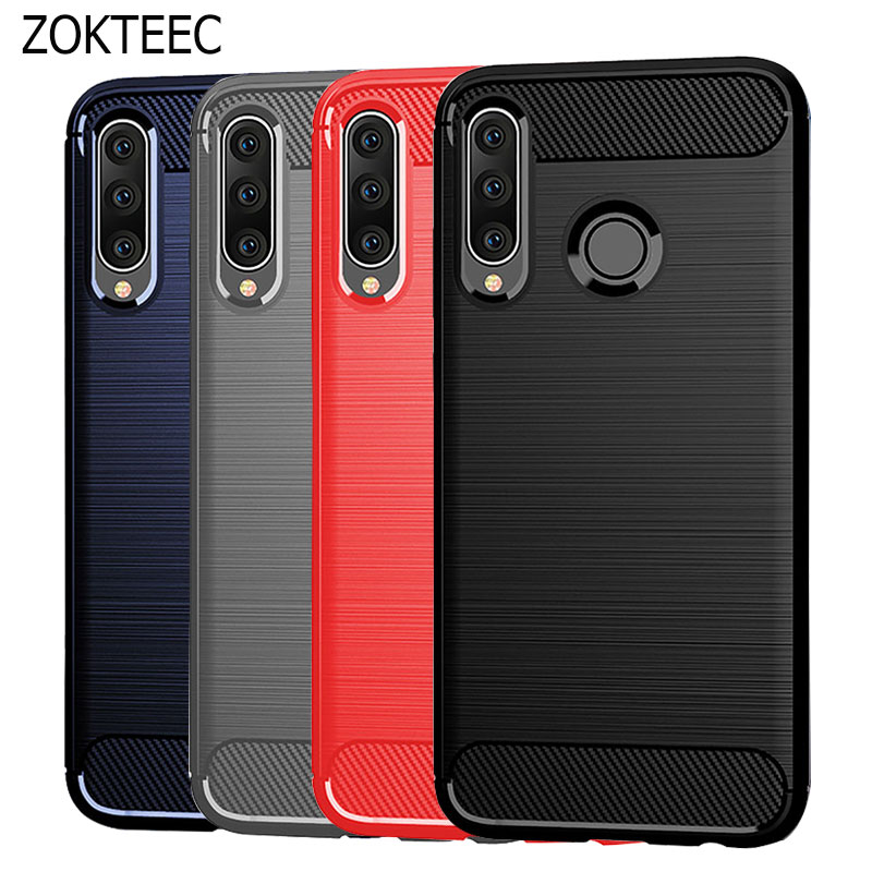 ZOKTEEC luxury Case For Huawei P20 Lite Case Silicon TPU Carbon Fiber Soft Silicone For Huawei P20 Lite Pro 2019 Cover Case-in Half-wrapped Cases from Cellphones & Telecommunications