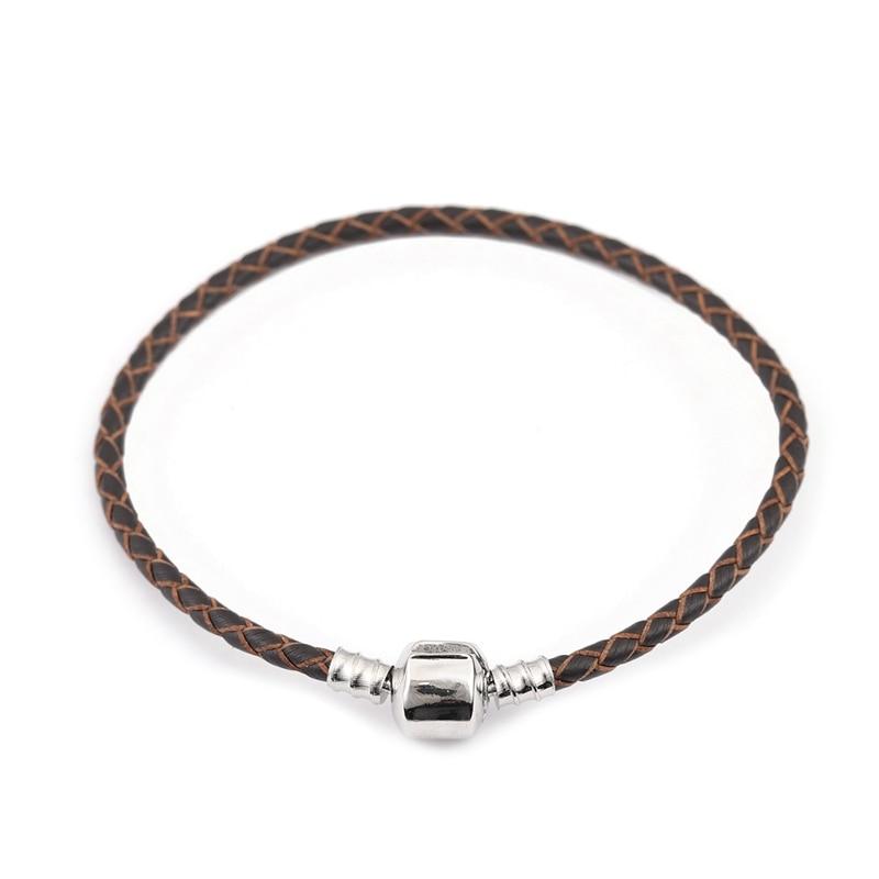 Xinyao 12 Colors 16-20cm Leather Charm Bracelet For Women Fit Original Charm Beads DIY Brand Design Bracelet Dropshipping 4
