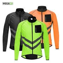 WOSAWE Cycling Rain Jacket Men bike clothing windbreaker women Windproof Water repellent MTB Reflective Jacket Jersey Black цены