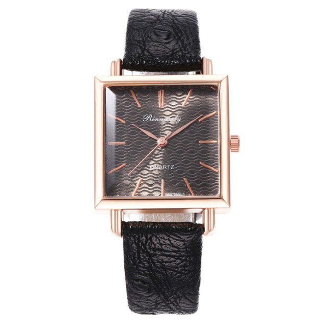DUOBLA Women's Quartz, Square Dial, Wristwatches