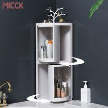 MICCK New Plastic 360 Rotating Bathroom Kitchen Storage Rack Organizer Shower Shelf Kitchen Tray Holder Washing Shower Organizer